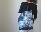 modern canvas dotted tote bag