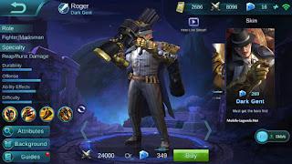 pencinta hero roger di mobile legends