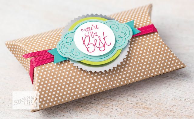 Kraft Pillow Boxes (with Label Me Pretty) from Stampin' Up!