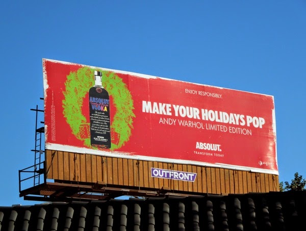 Absolut Vodka Andy Warhol billboard