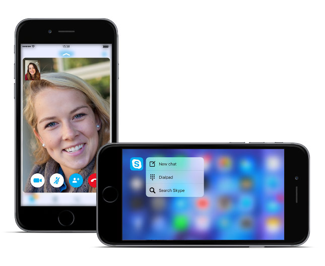 Skype update brings 3D Touch