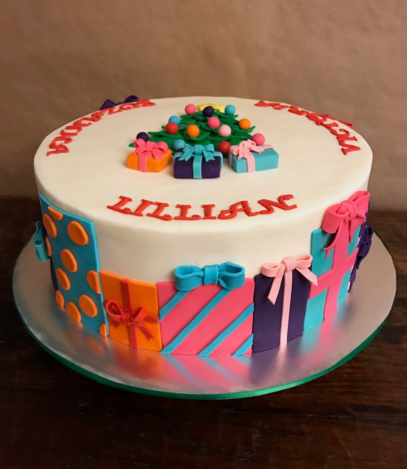 Christmas Themed Birthday Cake 12
