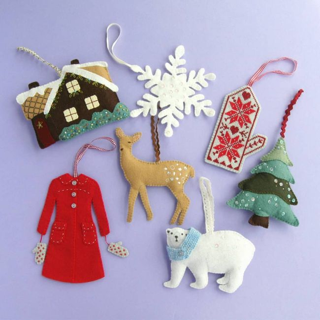 ive spent my spare crafty time this summer sewing christmas ornaments - Christmas Decoration Kits
