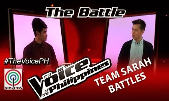 Watch Daniel Ombao vs Jason James on The Voice of the Philippines Team Team Sarah's Battles Round