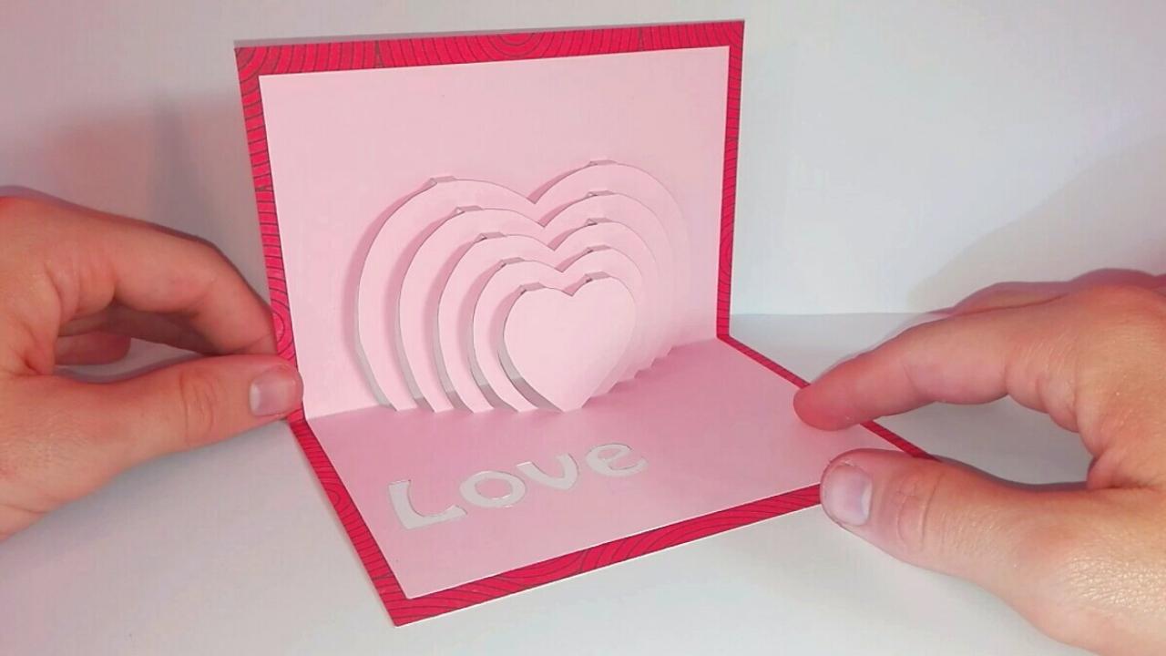 Carte popup coeur diy f te des m res - Modele de coeur a decouper ...