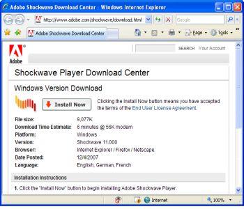 Shockwave Player Screenshot 2