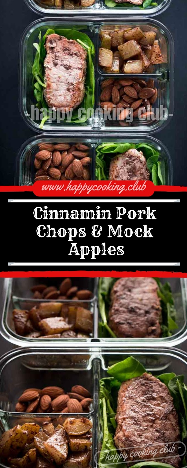 Cinnamin Pork Chops & Mock Apples