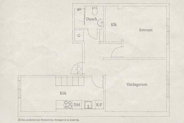 plan de amenajare pentru un apartament de 62 mp