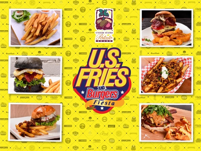 Burgers, Fiesta, food, Fries, Instagram contest, US Fries and Burgers Fiesta, US Potato Board,