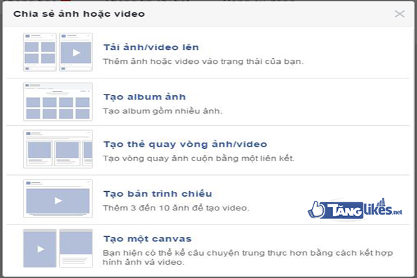 cach dang anh va video cung luc len fanpage 2