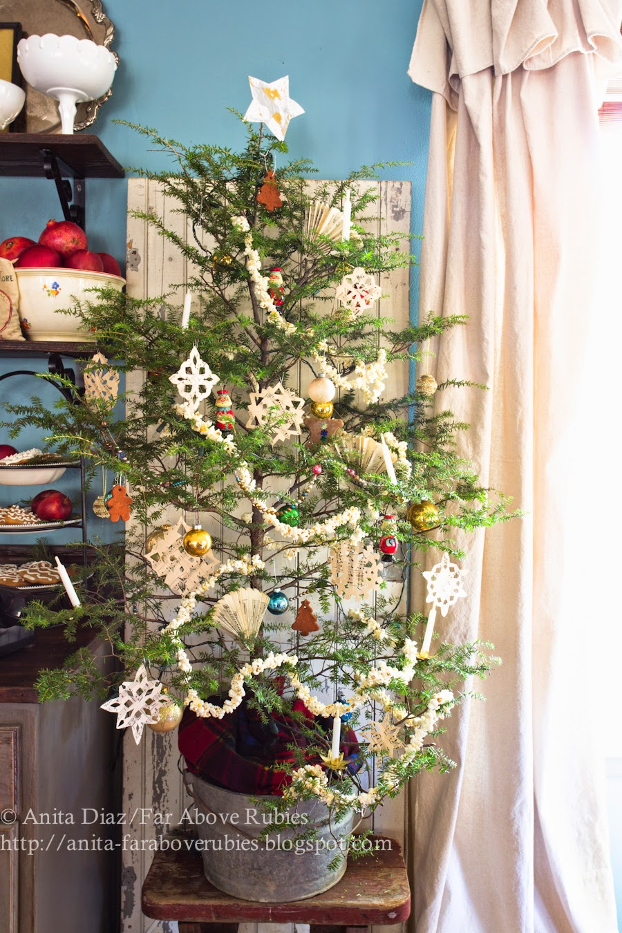 Vintage Americana Christmas Tree- Far Above Rubies-How I Found My Style Sundays- Christmas Edition- From My Front Porch To Yours