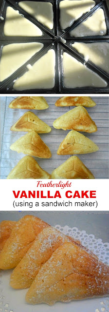 Quick cake for a snack - delicious as is or drizzled with Chocolate Syrup !