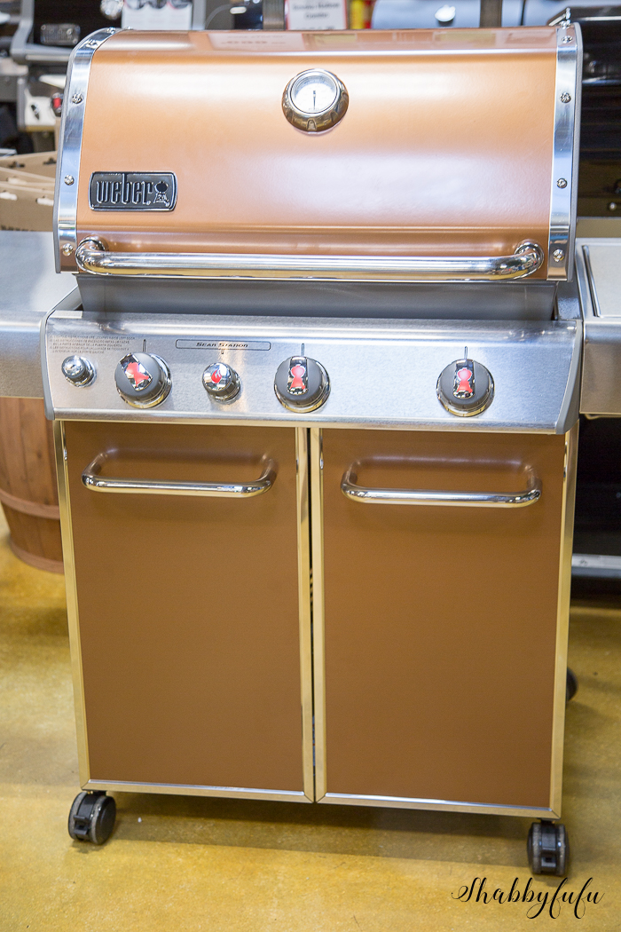 copper weber grill