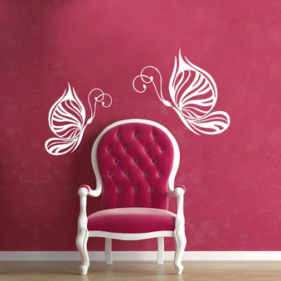 Butterfly magic wall decal
