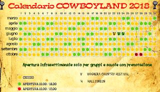 Calendario Cowboyland 2018
