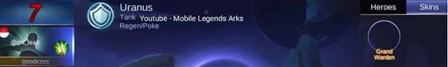 Baru saja meluncurkan bocoran mengenai pahlawan gres Hanabi Mobile Legends sekarang sudah ada her Tanggal Rilis Hero Uranus Mobile Legends di Server Ori