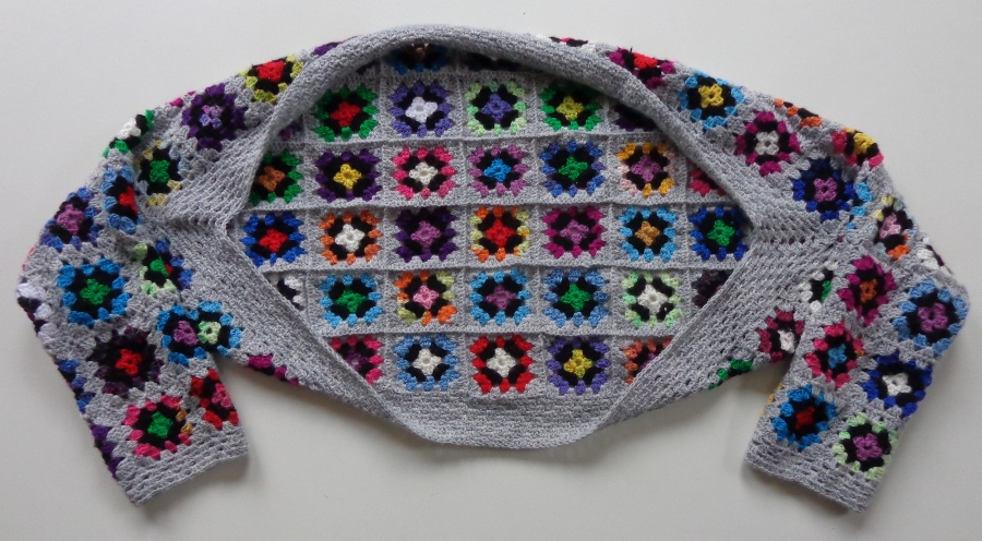 Ginginis Crafts And Quilts Tutorial Granny Square Shrug Oftewel