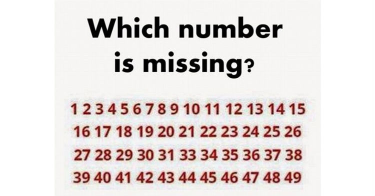 Which number is missing?
