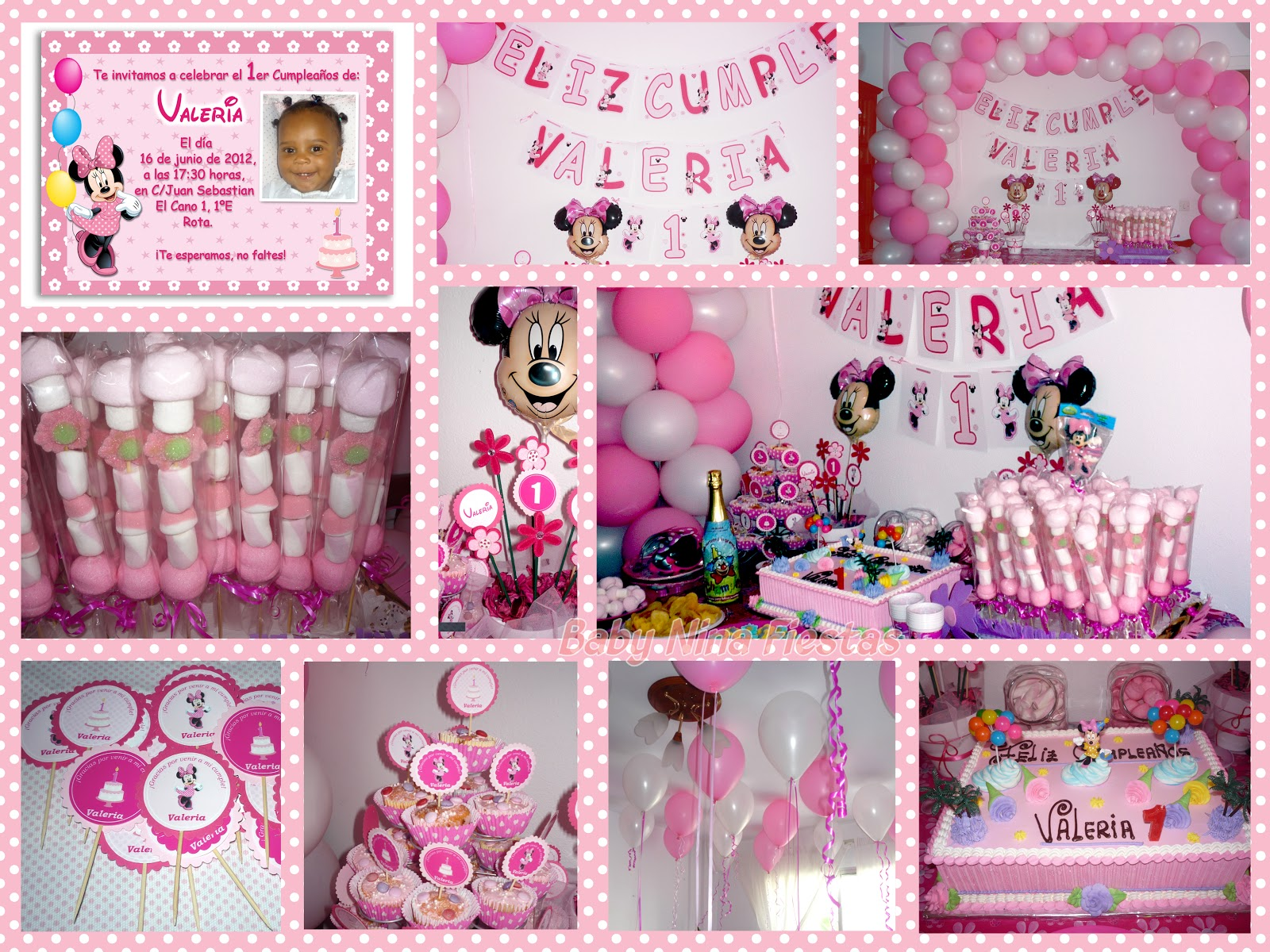 Baby Nina Fiestas: Fiesta temática Minnie Mouse para Valeria