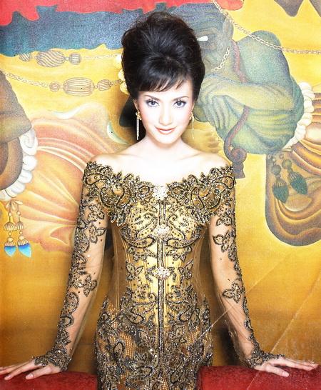 Model Kebaya Pernikahan Gold Modern