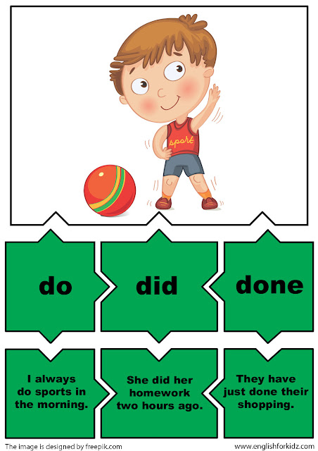 irregular verbs puzzles verb do