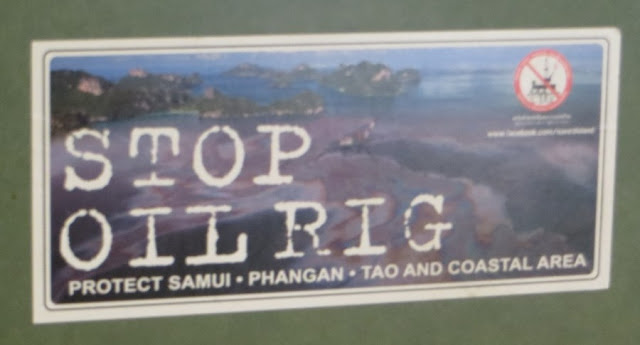 На острове Самуи, Пханган, Тао против добычи нефти