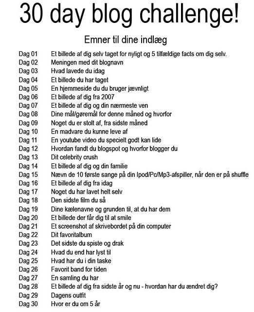 30 års fødselsdag citat Life as Julie Lindebjerg: 30 day blog challenge! 30 års fødselsdag citat