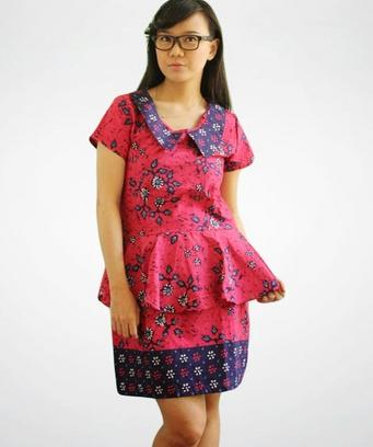 15+ Desain Dress Batik Pesta Model Terbaru