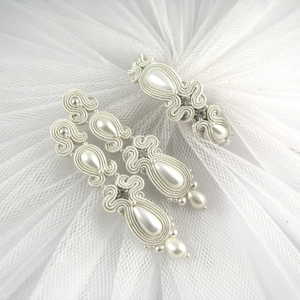 Biżuteria sutasz do ślubu - komplet.