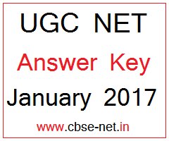 image : UGC NET Answer Key JAN 2017 @ www.cbse-net.in