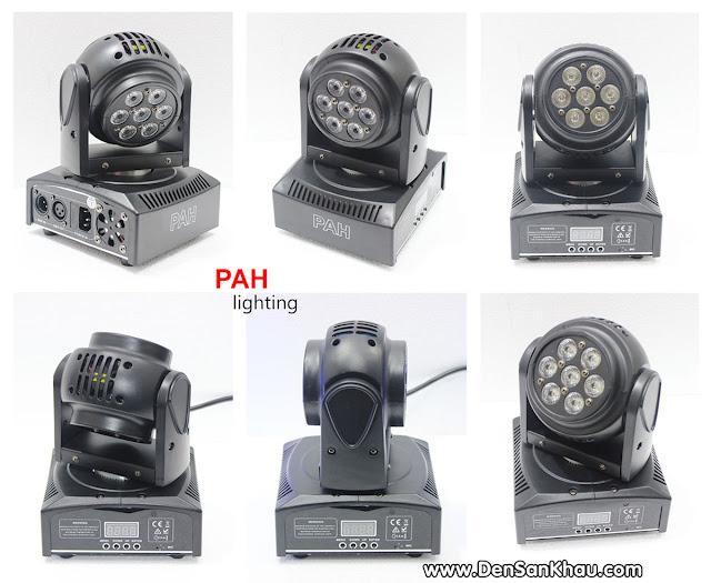 Toàn bộ phần khung đèn Moving Head được thiết kế bằng nhựa cứng sơn đen được trám một chất liệu nhám giúp đèn có thể chống trầy và tạo nên vẻ sang trọng cho sản phẩm.