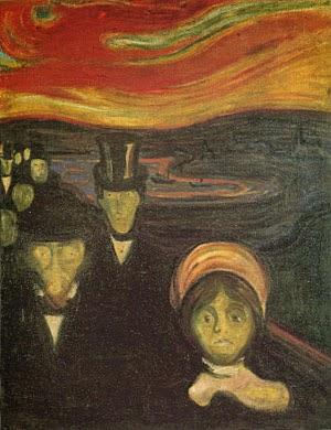 Ansiedade - Munch, Edvard esuas principais pinturas ~ Um grito de desespero existencial