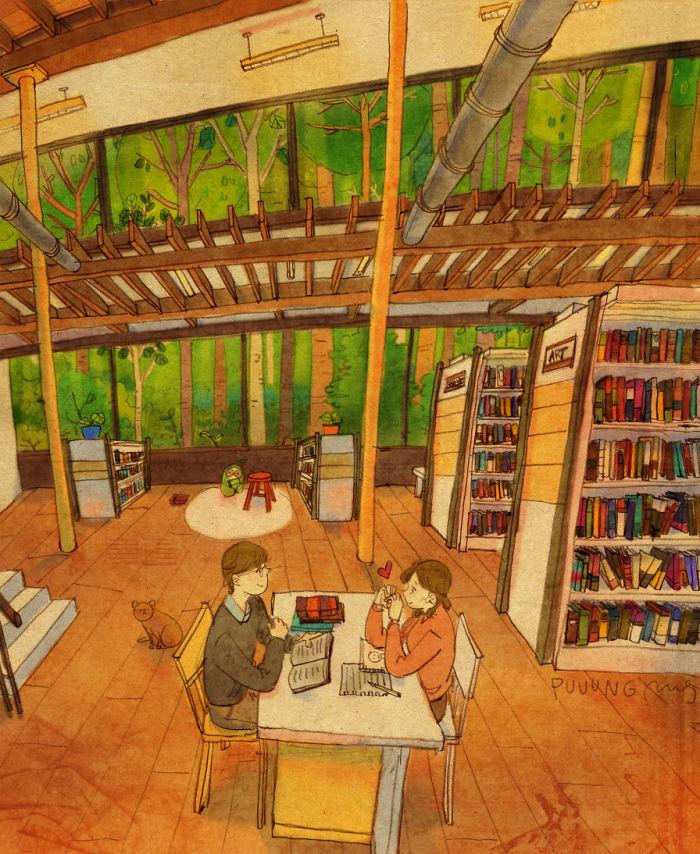 ir a una biblioteca