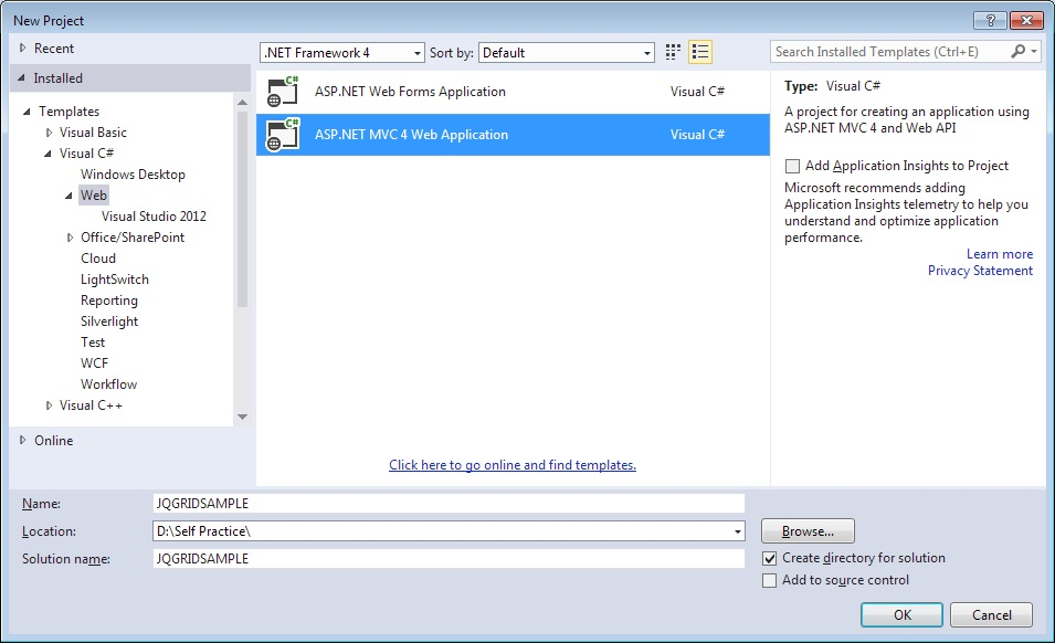 JQGRID Using MVC with Razor View Engine in  Net