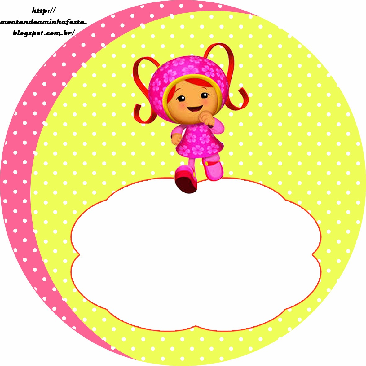 Umizoomi Free Printable Toppers.