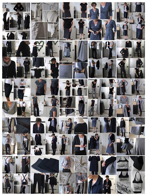 Collage Farbschema Schneiderherz diy Fashion