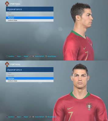 PES 2019 Faces Cristiano Ronaldo 2012 by LR7_Face Facemaker