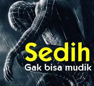 Gambar Kata-Kata Lucu Mudik Lebaran Spiderman Sedih Pulang Kampung Idul Fitri