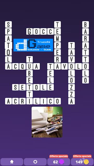 Soluzioni One Clue Crossword livello 19 schemi intermedia (Cruciverba illustrato)  | Parole e foto