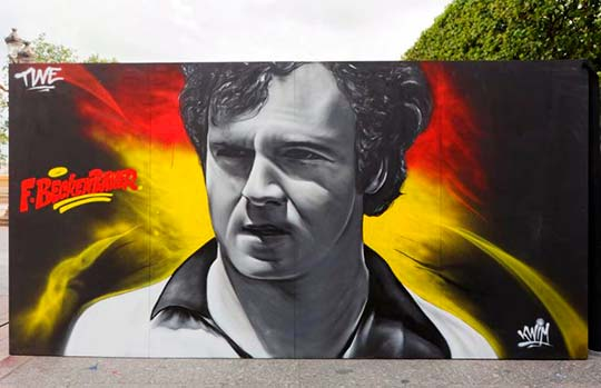 Franz Beckenbauer por Kwim (Fotografía de Henri Garat)