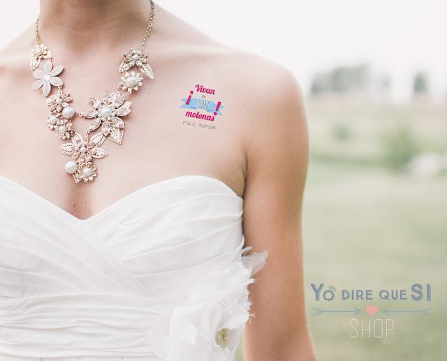 Tatuajes temporales en tu boda. Ideas divertidas para tus invitados.