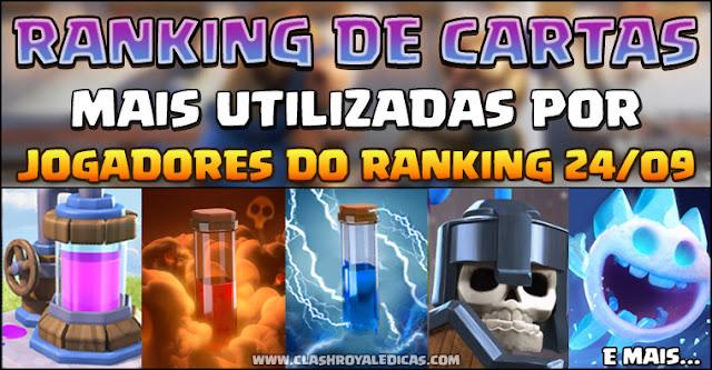 Ranking de melhores cartas Clash Royale