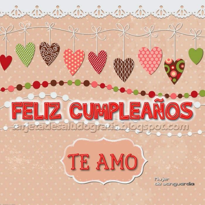 Feliz cumpleaños al amor de mi vida