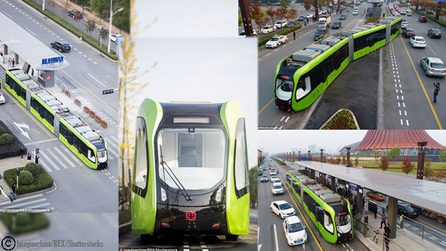 China Launched the World's First Trackless Train