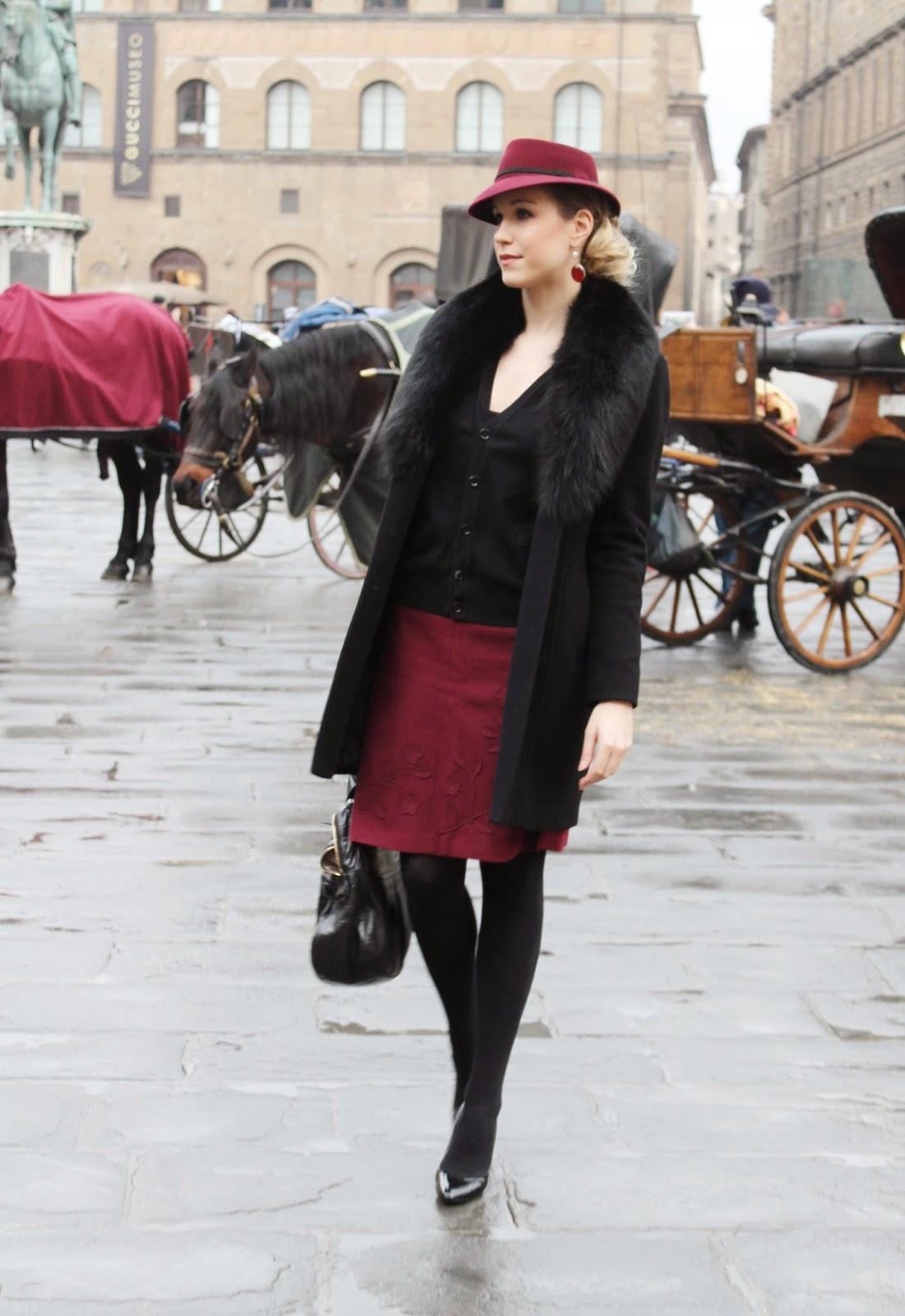 elegant winter fashion fur hat