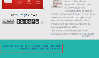 Remove Footer Credit Links From Blogger Templates