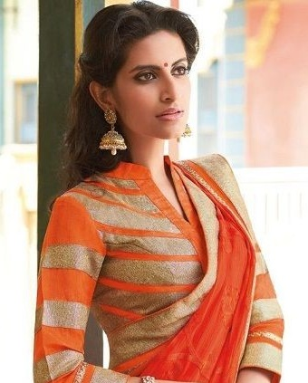 69f5ecfdf20c4 35 Stylish high neck blouse designs for pattu sarees