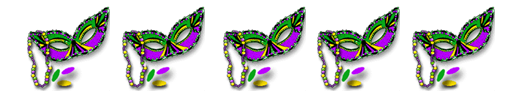 Mardi Gras mask borders