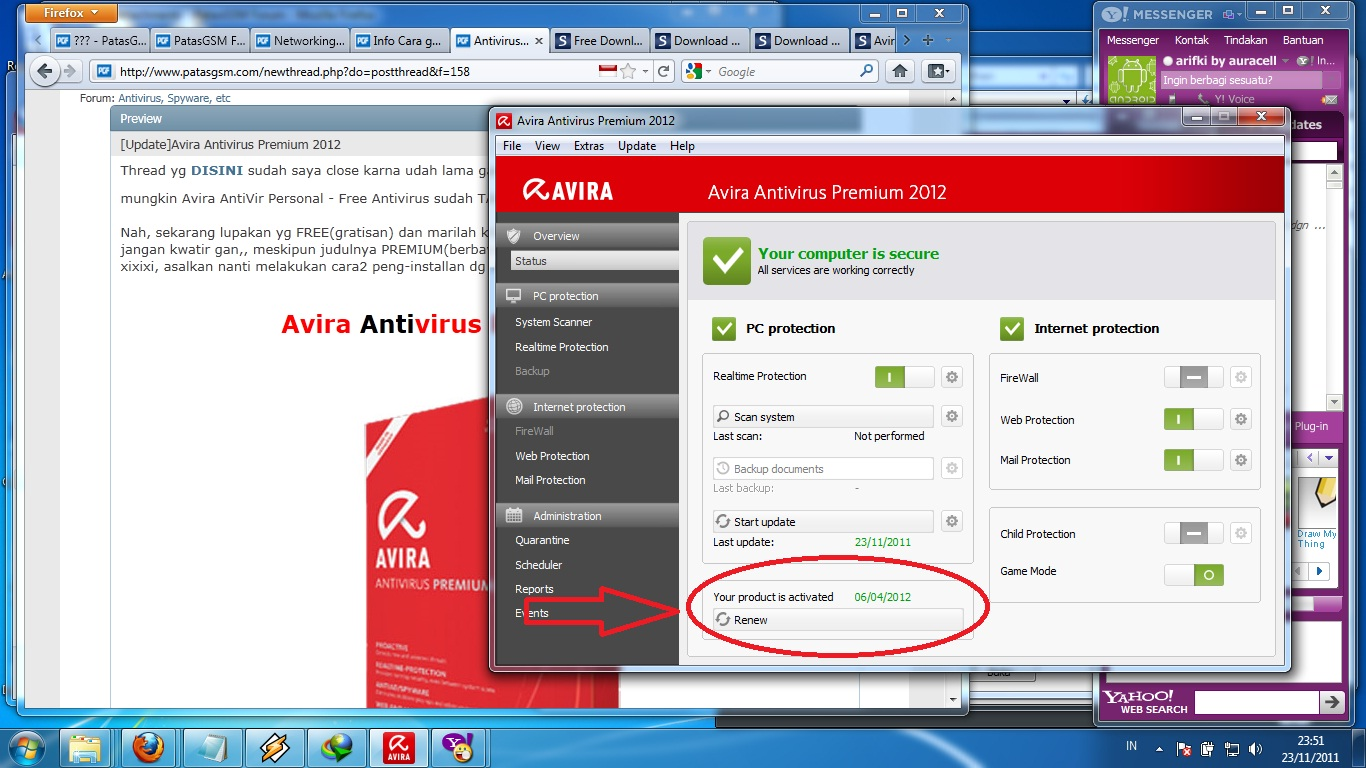 how to activate avira antivirus