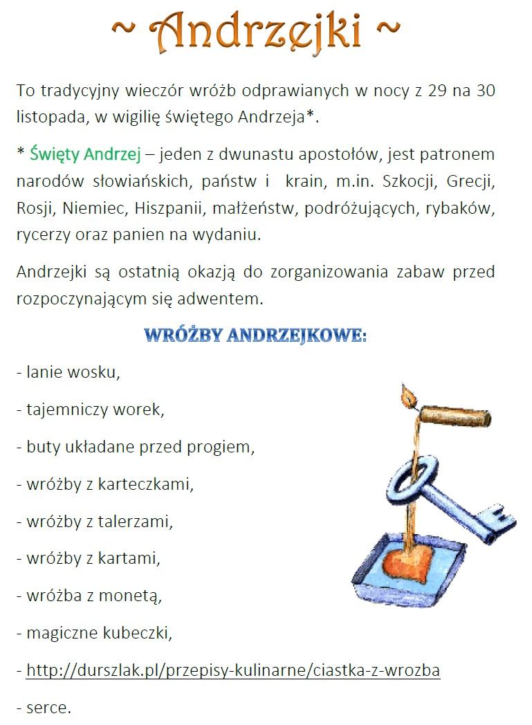 Blog Edukacyjny Dla Dzieci Andrzejki